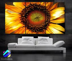 """LARGE 30""""x 60"""" 3 Panels Art Canvas Print beautiful Sunflower Floral Flow... - $89.00"""