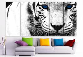 "XLARGE 30""x 70"" 5 Panels Art Canvas Print beautiful Snow Leopard animal ... - $139.00"