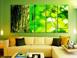 "LARGE 30""x 60"" 5 Panels Art Canvas Print beautiful Spring nature tree tr... - $129.00"
