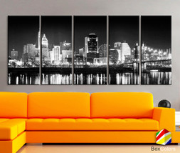 "XLARGE 30""x 70"" 5 Panels Art Canvas Print Cincinnati bridge night City D... - $139.00"