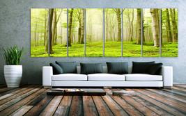 "XXLARGE 30""x 96"" 8 Panels Art Canvas Print beautiful Nature Forest Scene... - $229.00"