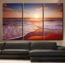 "Large 30x60 3 Panels framed 1.5"" depth Art Canvas Print beautiful sunset... - $116.00"