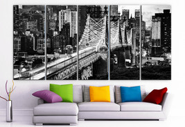"XLARGE 30""x 70"" 5 Panels Art Canvas Print beautiful New York City Manhat... - $139.00"
