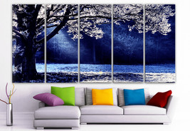 "XLARGE 30""x70"" 5 Panels Art Canvas Print beautiful Contrast sun winter t... - $139.00"