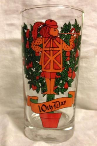 Indiana Glass 12 Days of Christmas 10th Day Pipers Piping 12 0z