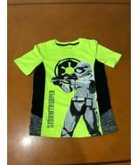"Boys Kids Star Wars ""Stormtrooper"" Neon Green Gray & Black T-Shirt Size 7  - $9.89"