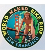 World Naked Bike Ride vinyl sticker 102mm San Francisco bicycle - $3.12