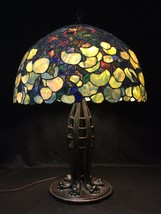 Massive Hydrangea Lamp Shade on a Huge Jacob's Ladder Cats Paw Base - $4,450.00