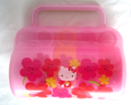 Sanrio Hello Kitty 4 Plastic Cups Mugs with Carrying Storage Case  - $34.99