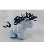"Pottery Barn Kids PBK Blue Horse Zebra Plush 4.5"" Stuffed Animal toy - $4.95"