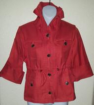 Anne Klein Sport Cute RainCoat Jacket Stretch Size Small Solid Orange Po... - $32.67