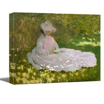 Woman Reading, 1872 by Claude Monet -Canvas Art Wall Decor-Gallery Wrapped - $29.90+