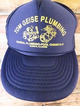 Tom Geise Plumbing Pool Chemicals Quincy Illinois Adjustable Adult Hat Cap - $19.79