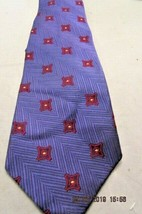 Men's Tie Robert Talbott 100% Silk Neck Tie Made in USA Blue and Red  - $9.49