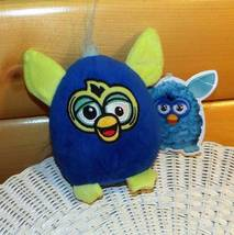 "Furby Hasbro Toy Factory 6"" Plush Royal Blue & Lime Green Critter Wants Ho - $6.29"