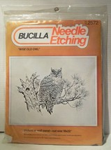 Wise Old Owl Needle Etching Bucilla 2572  KIT Wall Panel Cut Size 18 by 22 USA - $9.89