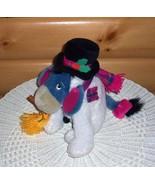 "Winnie Pooh EEYORE Disney Snowman Plush 11"" with Top Hat, Scarf & Snow B... - $10.95"