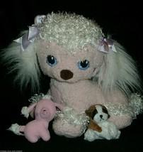 2005 Playskool Hasbro Pink Puppy Surprise Stuffed Animal Plush Toy Mom W/ 2 Baby - $16.83
