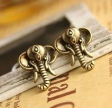 Vintage Mini Elephant Stud Earrings - $4.99