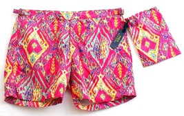 Polo Ralph Lauren Pink Graphic Brief Lined Swim Trunks Water Shorts Men's NWT - $123.74