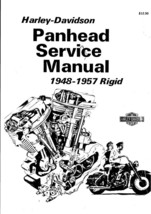 1948-1957 Panhead Harley-Davidson Rigid Service Manual fully Illustrated 224 PDF - $19.39