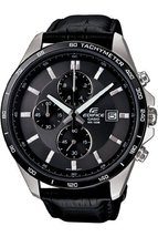 Casio Men's Edifice EFR512L-8AV Black Leather Quartz Watch with Black Dial - $356.61 CAD