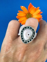 Ocean Jasper Ring Set in 925 Sterling Silver Size 6.5 - $54.00