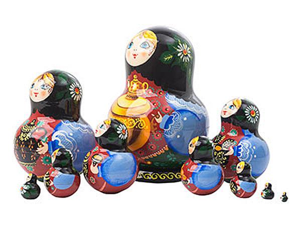 "Samovar Tea Time Nesting Doll - 5"" w/ 10 Pieces"