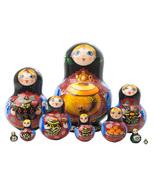 "Samovar Tea Time Nesting Doll - 5"" w/ 10 Pieces - $120.00"