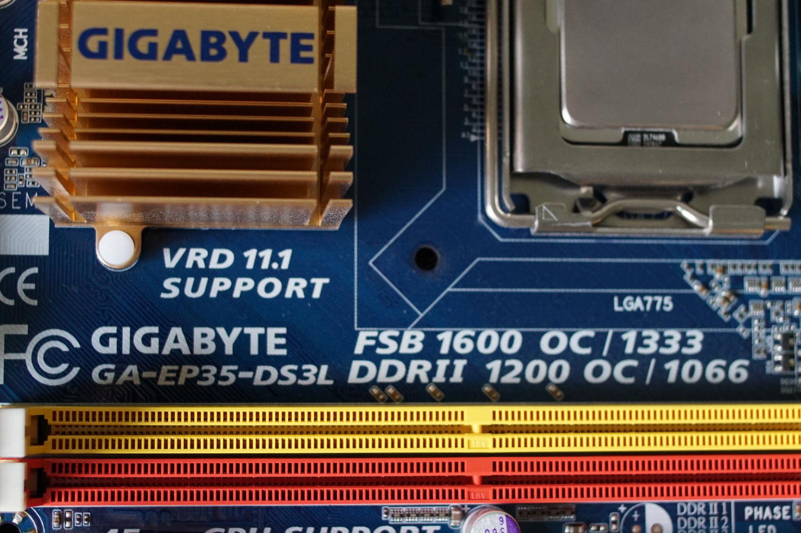 Gigabyte GA-EP35-DS3L Rev 1 0 + Intel E2180 and 27 similar items