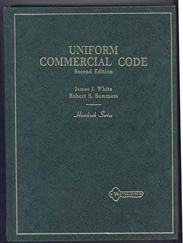 Uniform Commercial Code Second Edition [Unknown Binding]