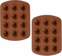 ROSANNA PANSINO by Wilton 12-Cavity Silicone Swirl Candy Molds, Multi-pa... - $9.50