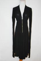 ROBERTO CAVALLI ITALY GOLD ZIPPER LITTLE BLACK DRESS SIZE MEDIUM - £132.18 GBP