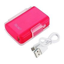 Reiko POWER BANK 4000mAh with 25cm micro USB cable HOT PINK - Travel Cha... - $19.20