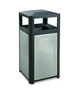 Safco Products Evos Outdoor/Indoor Steel Trash Can 9934BL, Black, Perfor... - £405.08 GBP
