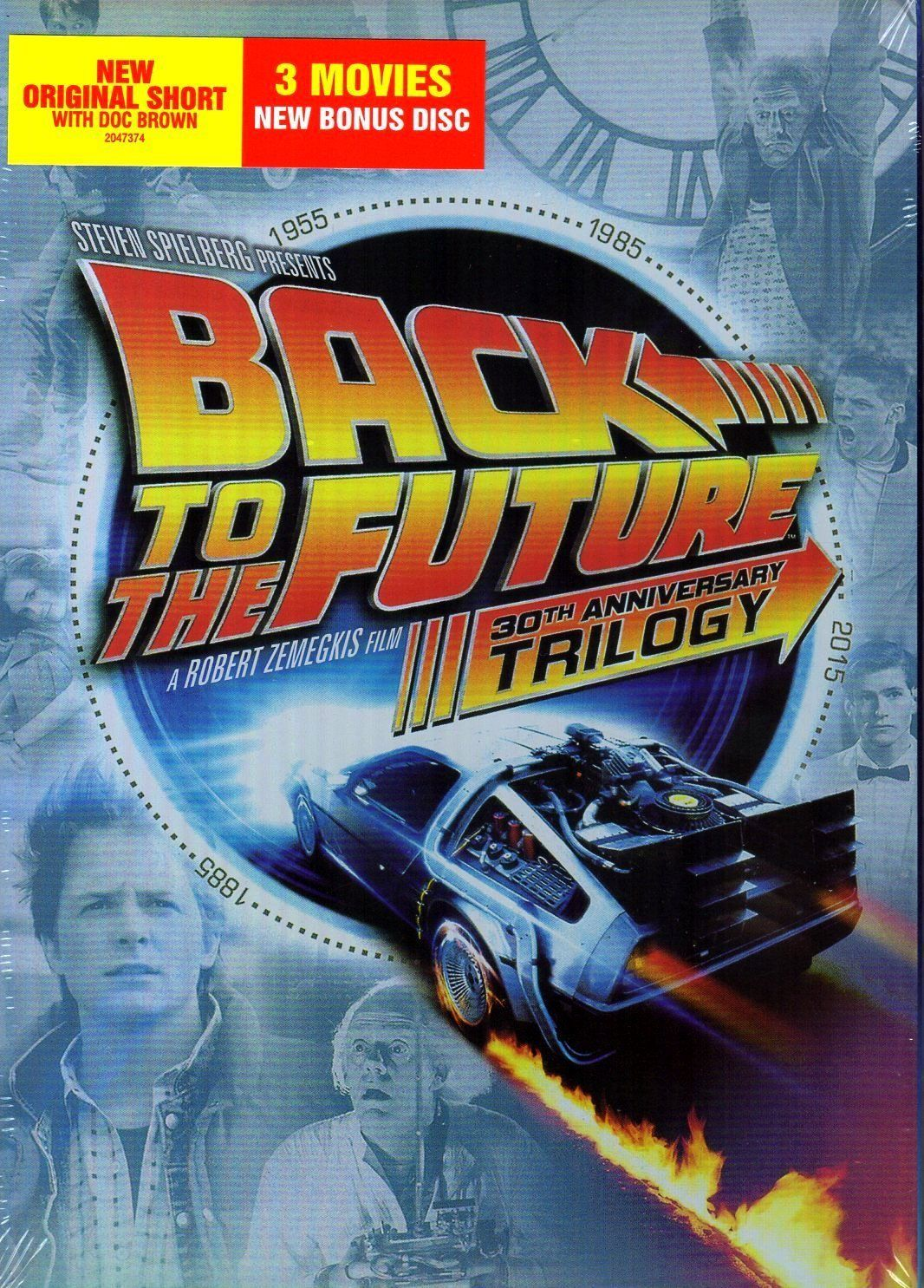 Back to the Future 30th Anniversary Trilogy (DVD, 2015, 5-Disc Set) New