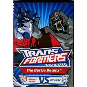 Transformers Animated ~ The Battle Begins: Optimus Prime VS Megatron Dvd