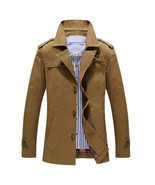 Men Trench Coat European Style - £60.49 GBP