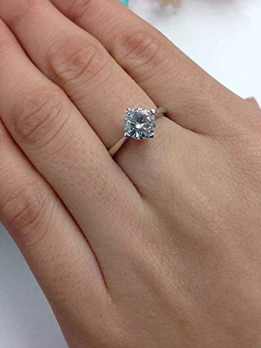 GOWE 1 Carat ct F Color Heart Shape Engagement Wedding Lab Grown Moissanite Diam