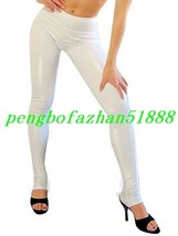 Sexy White Shiny Metallic Pants Dance Pants Unisex Wrestling Pants Trousers S768 - $29.99