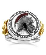 Praetorian Guard Helmet Mens Signet ring Sterling Silver - $90.00
