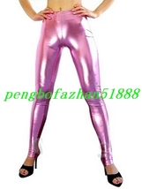 Sexy Pink Shiny Metallic Pants Dance Pants Unisex Wrestling Pants Trousers S770 - $29.99