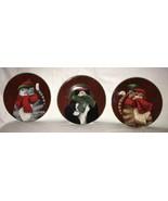3 Casa Moda Cuddly Kitties Salad Plate Danny O Wild Apple Cats in Hats S... - $29.99