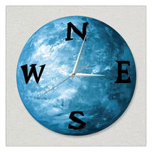 11.8in Luminous Moon Earth Wall Decals Sticker Wall Clock -EWSN - $26.69