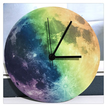 11.8in Luminous Moon Earth Wall Decals Sticker Wall Clock -Colorful Moon - $24.99