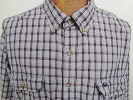 Carhartt Mens 2XL Blue Red Plaid Cotton Long-Sleeve Button-Down Shirt - $36.11