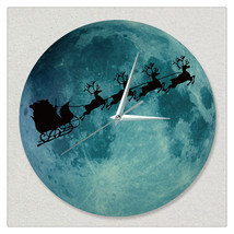 11.8in Luminous Moon Wall Decals Sticker Wall Clock  - $28.19