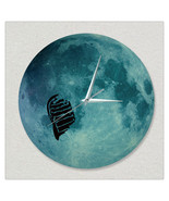 11.8in Luminous Moon Wall Decals Sticker Wall Clock -Fly - $28.19