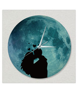11.8in Luminous Moon Wall Decals Sticker Wall Clock -Love - $28.19