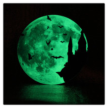 11.8in Luminous Moon Wall Decals Sticker Wall Clock -Castle - $28.19